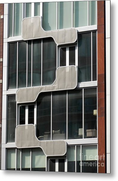 Geometric Windows Metal Print