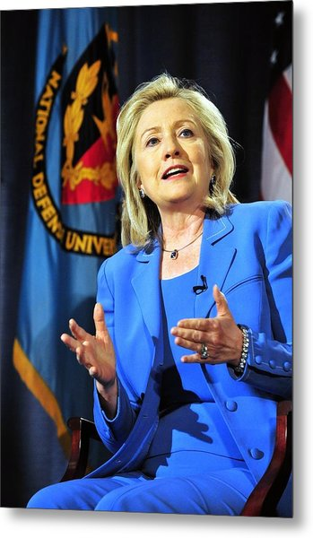 Hillary Clinton, Us Secretary Of State Metal Print by Everett