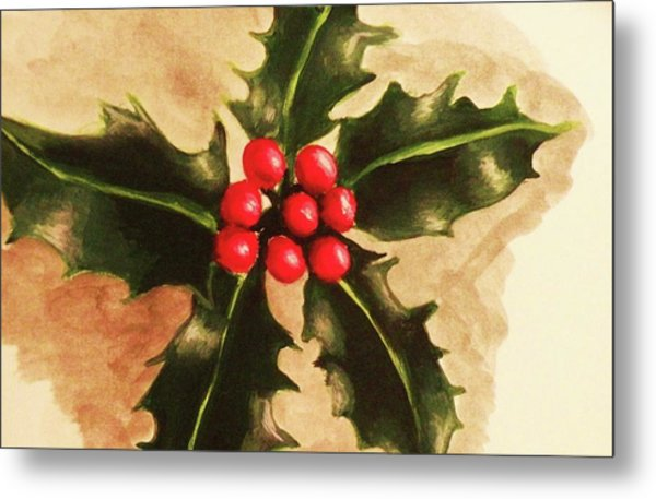 Holly And Ivy Metal Print