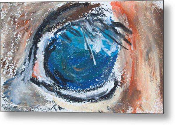 Horse Eye Metal Print