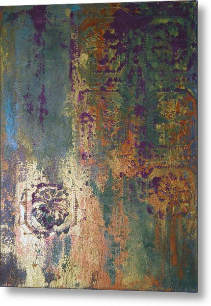 Industrial Moss Metal Print