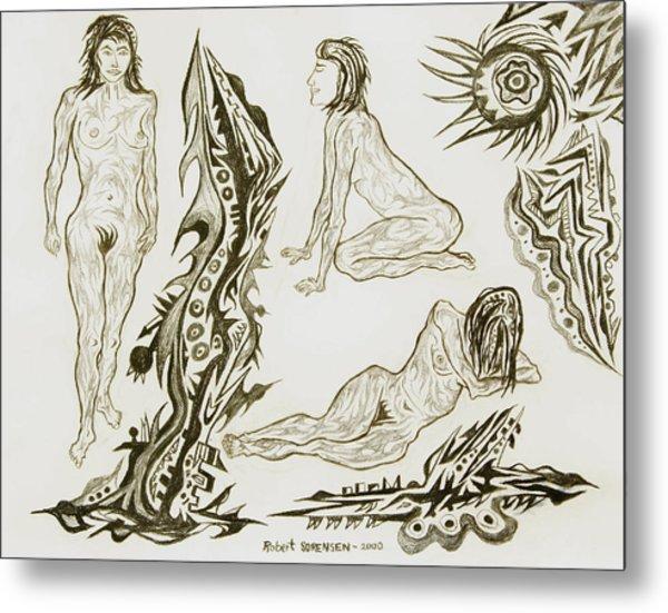 Live Nude 17 Female Metal Print