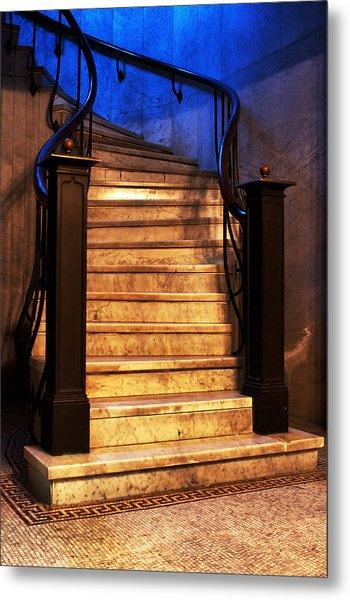 Marble Stairs Metal Print