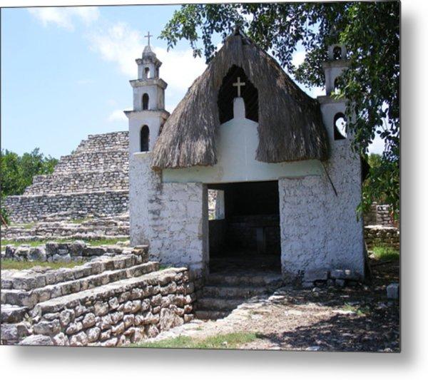 Mayan Chapel Metal Print