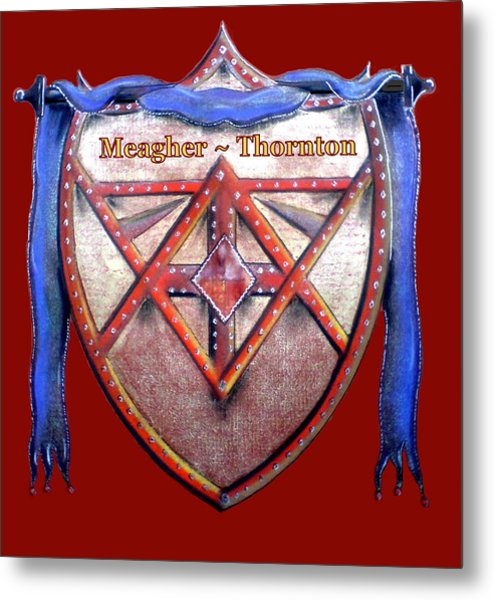 Meagher-thornton Family Crest Metal Print