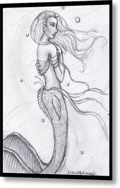 Mermaid Aiesy Metal Print