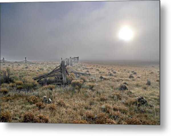 Misty Sunrise Metal Print