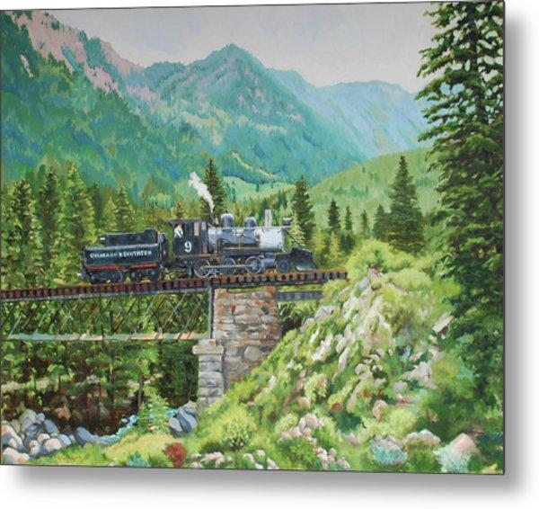 Mountain Railroad Metal Print