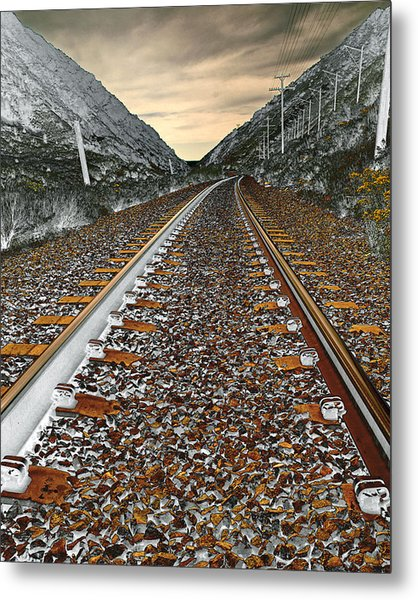 Mountain Tracks Metal Print