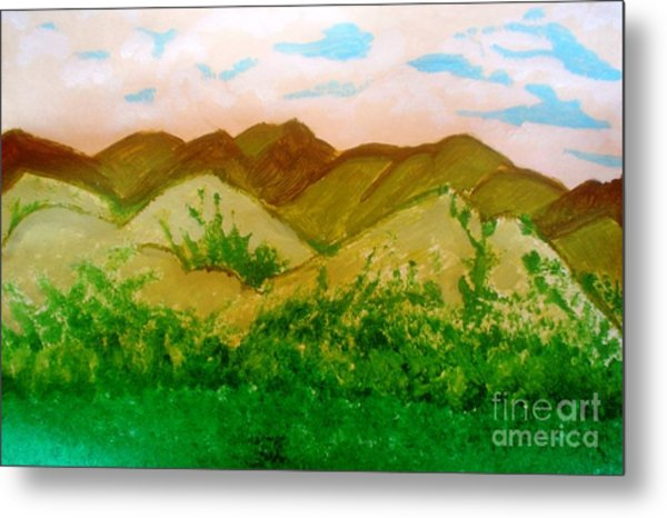 Mountain View Of Ecuador Metal Print