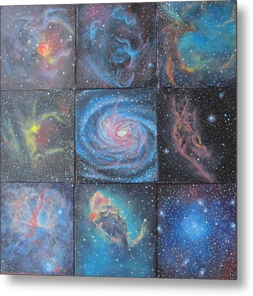 Nine Nebulae Metal Print by Alizey Khan