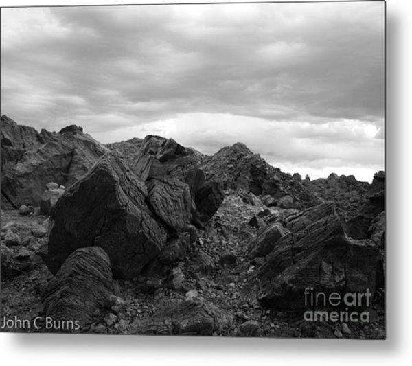 Obsidian Field Metal Print