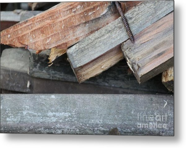 Old Wood Metal Print by Marilyn West