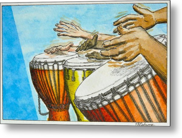 One Song Many Hands Metal Print