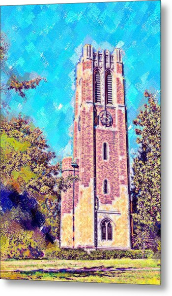 Pastel Beaumont Tower 2 Metal Print by Paul Bartoszek