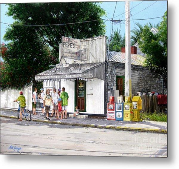 Pepe's Cafe Key West Florida Metal Print