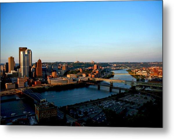 Pittsburgh Skyline Metal Print