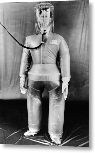 Plastic Protective Outfit Filled Metal Print by Everett