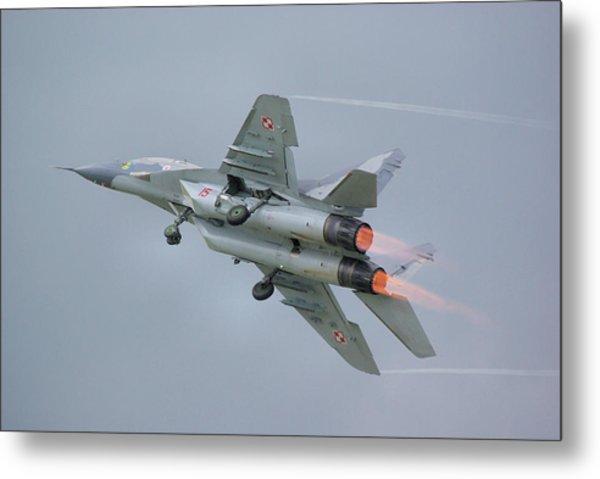 Polish Air Force Mig-29 Metal Print