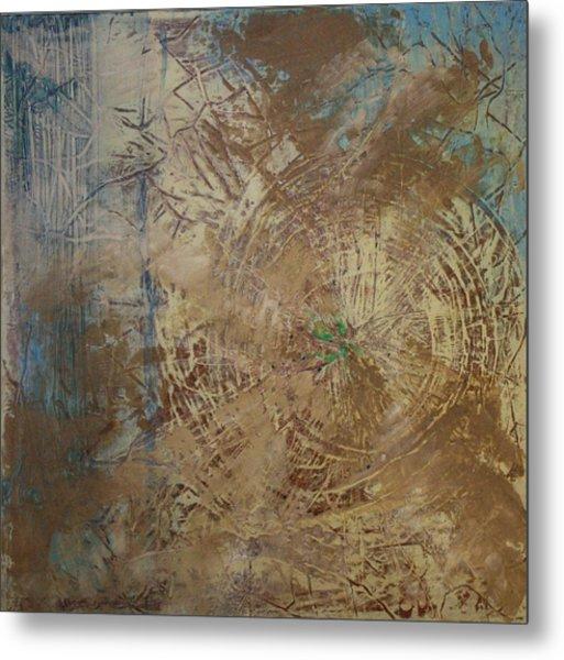 Preserve The Blue Gold Metal Print