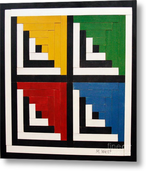 Primary Colors Metal Print by Marilyn West