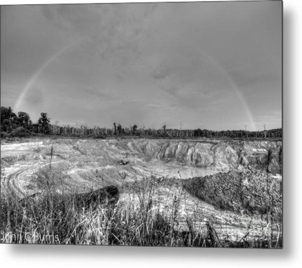 Rainbow Pit Metal Print