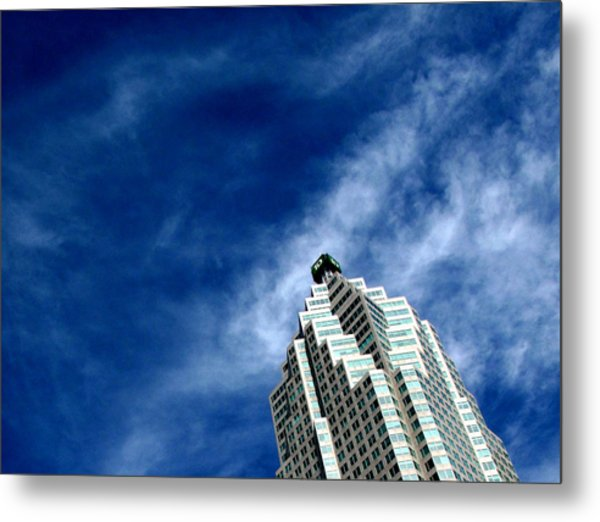 Reflections On The Tower 5  Metal Print