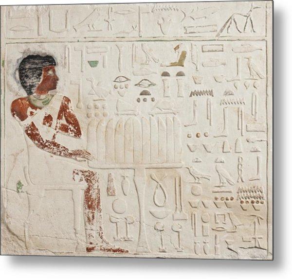 Relief Of Ka-aper With Offerings - Old Kingdom Metal Print