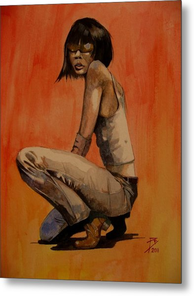 Ren Metal Print by Ray Agius
