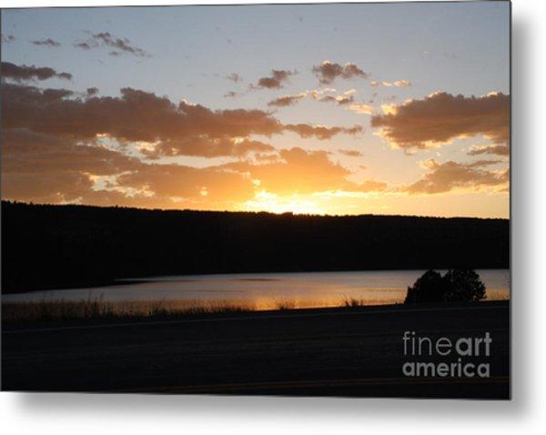 Ridgway Reservoir Sunset Metal Print