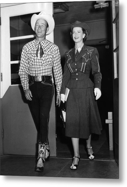 Roy Rogers, And His Wife Dale Evans Metal Print by Everett