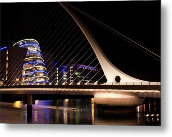 Samuel Beckett Bridge Of Dublin Metal Print
