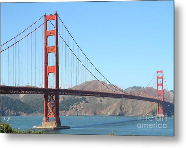 San Francisco Golden Gate Bridge . 7d7802 Metal Print by Wingsdomain Art and Photography