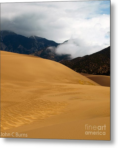 Sand In The Mountains Metal Print