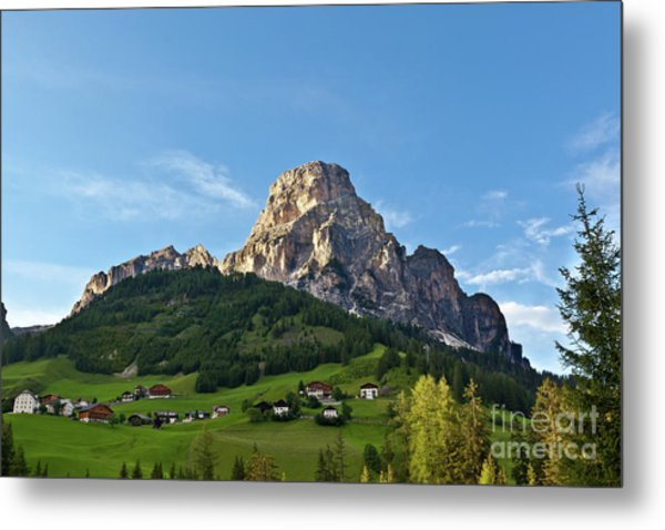 Sassongher Tirol Northern Italy Metal Print