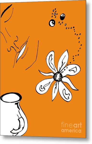 Serenity In Orange Metal Print