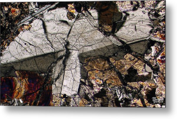 Shattered Lunar Landing Metal Print