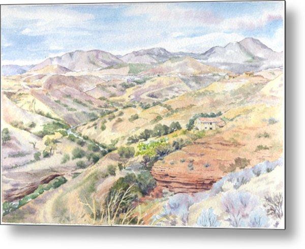 Spanish Sierra Metal Print by Maureen Carter