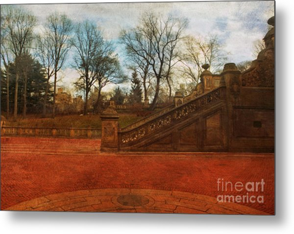 Stairway In Central Park Metal Print