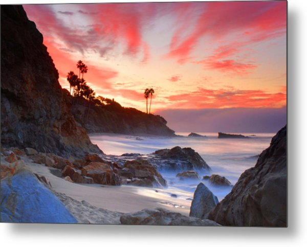 Sunrise In Laguna Beach Metal Print