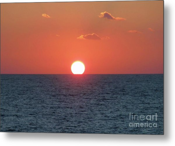 Sunset At Sea Metal Print by Marilyn West