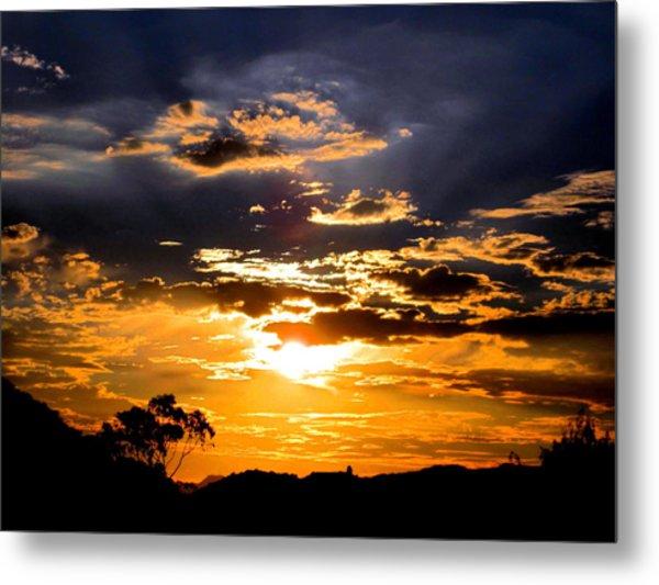 Sunset Over Topanga Metal Print by Catherine Natalia  Roche