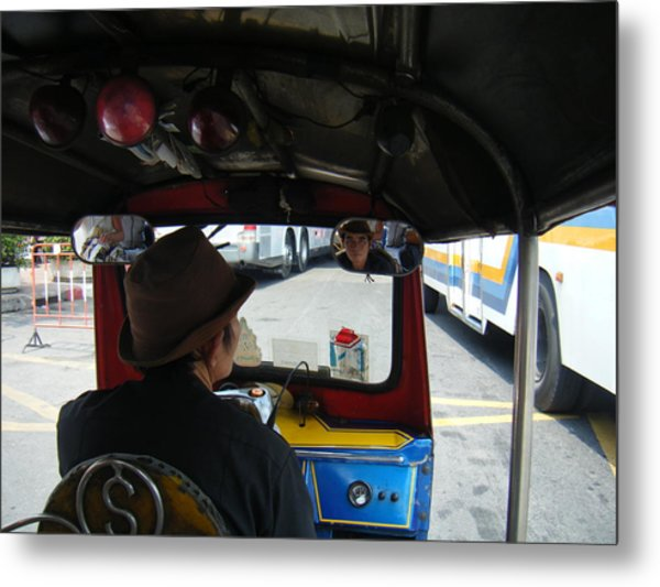 Taxi Ride Through Bangkok Metal Print