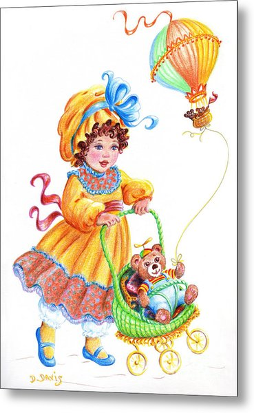 Teddy Bears And Me In The Children's Parade Metal Print