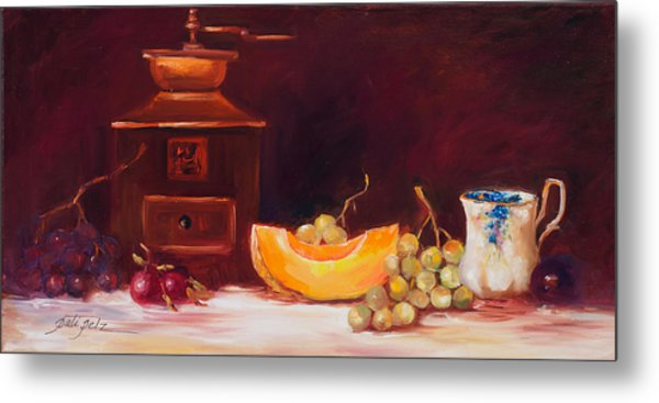 The Coffee Grinder Still Life Metal Print