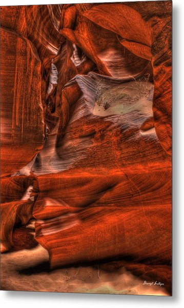 The Place Where Water Runs Through Rocks Metal Print by Darryl Gallegos