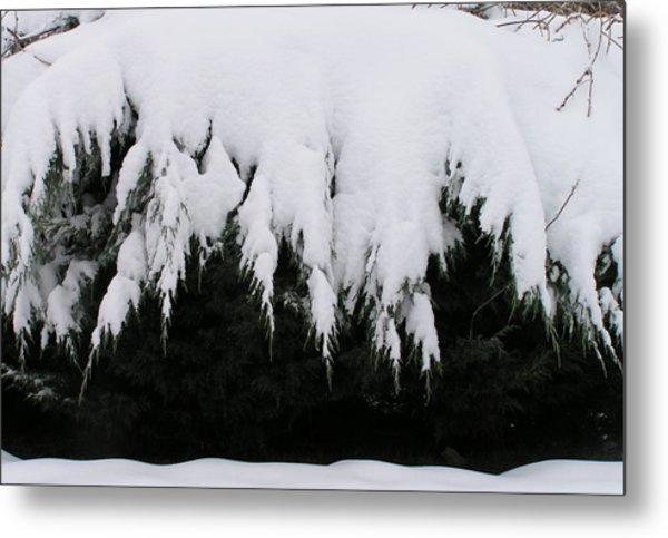 The Snow Cave Metal Print