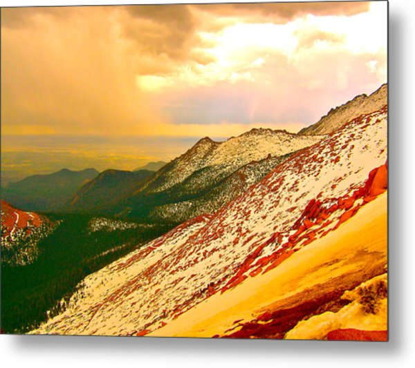 Through The Valley Metal Print by Amber Hennessey