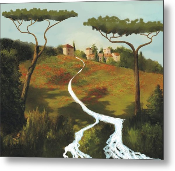 Trees Of Tuscany Metal Print by Larry Cirigliano