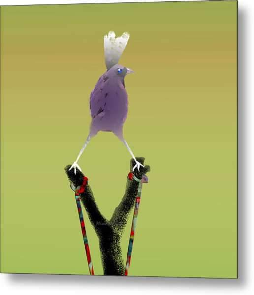 Valiant Bird Metal Print